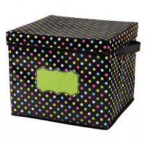TCR20766 - Chalkboard Brights Storage Bins Box 12X12.5X10.5 in Storage Containers