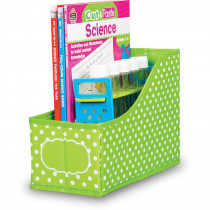 TCR20785 - Lime Polka Dots Book Bin in Storage Containers