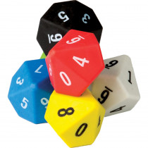 TCR20805 - 10 Sided Dice 6 Pack in Counting