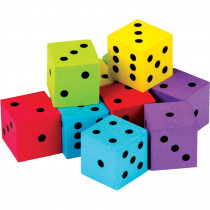 TCR20808 - 20 Pack Foam Colorful Dice in Dice