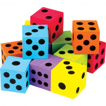 TCR20809 - 12 Pack Foam Colorful Large Dice in Dice