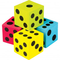 TCR20810 - 4 Pack Foam Colorful Jumbo Dice in Dice