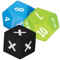 TCR20812 - 3 Pack Multiplication Dice in Multiplication & Division