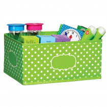 TCR20818 - Small Lime Polka Dots Storage Bin in Storage Containers