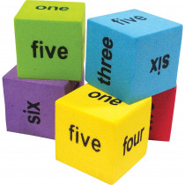TCR20822 - 20 Pack Foam Number Word Dice in Dice