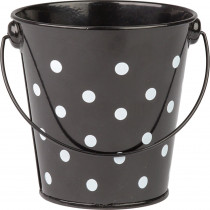 TCR20825 - Black Polka Dots Bucket in Sand & Water