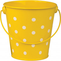 TCR20828 - Yellow Polka Dots Bucket in Sand & Water