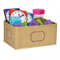 TCR20832 - Burlap Storage Bin Small in Storage Containers