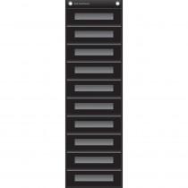 TCR20841 - File Storage Pocket Chart Black in Storage