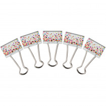 TCR20857 - Confetti Binder Clips Medium in Clips