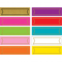 TCR20869 - Colorful Gold Shimmer Labels in Name Plates