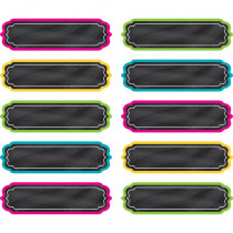 TCR20871 - Chalkboard Brights Labels in Name Plates