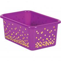 Purple Confetti Small Plastic Storage Bin - TCR20892 | Teacher Created Resources | Storage Containers