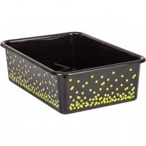 TCR20896 - Black Confetti Large Plastic Bin in Storage