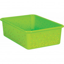 Lime Confetti Large Plastic Storage Bin - TCR20897 | Teacher Created Resources | Storage Containers