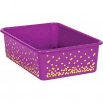 Purple Confetti Large Plastic Storage Bin - TCR20899 | Teacher Created Resources | Storage Containers