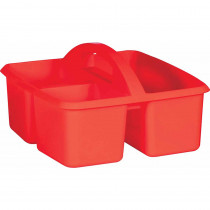 Red Plastic Storage Caddy - TCR20910 | Teacher Created Resources | Storage Containers