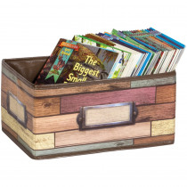 Reclaimed Wood Small Storage Bin - TCR20913 | Teacher Created Resources | Storage Containers