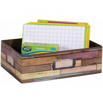 Reclaimed Wood Storage Bin - TCR20914 | Teacher Created Resources | Storage Containers