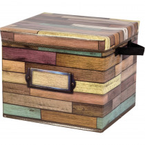Reclaimed Wood Storage Box - TCR20915 | Teacher Created Resources | Storage Containers