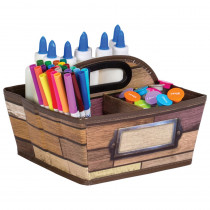 Reclaimed Wood Storage Caddy - TCR20916 | Teacher Created Resources | Storage Containers