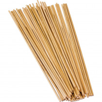 TCR20926 - Stem Basics 1/8 Wood Dowels 100 in Craft Sticks