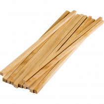 TCR20928 - Stem Basics Square Wood Dowels 12 in Craft Sticks