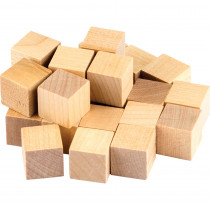 TCR20941 - Stem Basics Wooden Cubes 25 Ct in Wooden Shapes