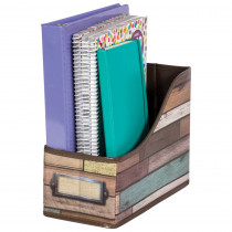 Reclaimed Wood Book Bin - TCR20969 | Teacher Created Resources | Storage Containers