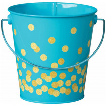 Teal Confetti Bucket - TCR20973 | Teacher Created Resources | Desk Accessories