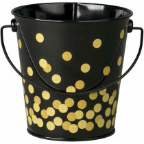 Black Confetti Bucket - TCR20975 | Teacher Created Resources | Desk Accessories