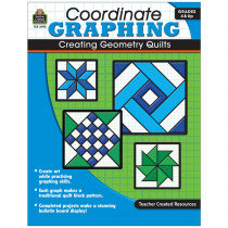 TCR2493 - Coordinate Graphing Creating Geometry Quilts Gr 4 & Up in Geometry