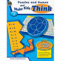 TCR2562 - Puzzles And Games That Make Kids Think Gr-2 in Games & Activities