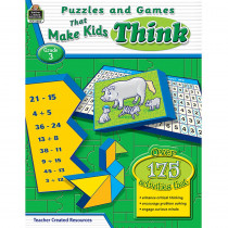 TCR2563 - Puzzles And Games That Make Kids Think Gr-3 in Games & Activities
