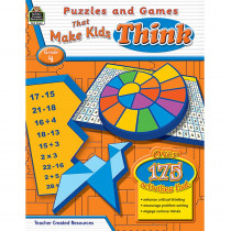 TCR2564 - Puzzles And Games That Make Kids Think Gr-4 in Games & Activities