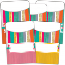TCR2672 - Tropical Punch Library Pockets Multi Pack in Library Cards