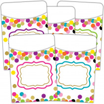 TCR2736 - Confetti Library Pockets in Organizer Pockets