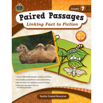TCR2917 - Paired Passages Linking Fact To Fiction Gr 7 in Comprehension