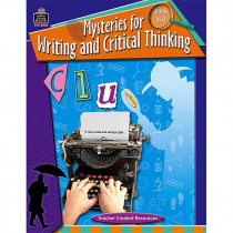 TCR3026 - Mysteries For Writing & Critical Thinking Gr 4-8 in Books