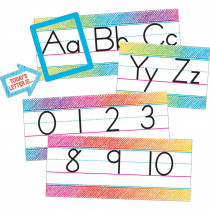 TCR3052 - Colorful Scribble Alphabet Line Bulletin Board Set in Language Arts