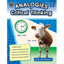 TCR3167 - Gr 4 Analogies For Critical Thinking in Books