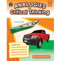 TCR3168 - Gr 5 Analogies For Critical Thinking in Books