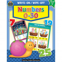 TCR3296 - Write-On/Wipe-Off Numbers 0�30 in Math