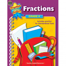 TCR3325 - Fractions Gr 4 Practice Makes Perfect in Fractions & Decimals