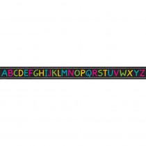 TCR3477 - Chalkboard Bright Alphabet Straight Border Trim in Border/trimmer