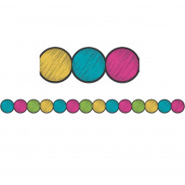 TCR3498 - Chalkboard Brght Circle Border Trim in Border/trimmer