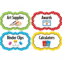 TCR3565 - Polka Dots Supply Labels in Accessories