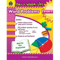 TCR3579 - Daily Warm Ups Word Problems Gr 5 in Activity Books