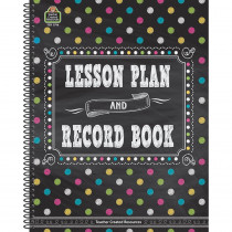 TCR3716 - Chalkboard Brights Lesson Plan And Record Book in Plan & Record Books