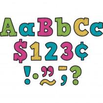 TCR3881 - 3In Chalkboard Brights Letters in Letters